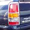 2001 Chevrolet Silverado, Sierra  Styleside Chrome Tail Light Trim Bezel