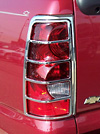 2003 Chevrolet Silverado   Chrome Tail Light Trim Bezels