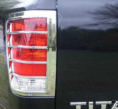 Nissan Frontier  2005-2012 Chrome Tail Light Trim Bezels