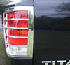 2008 Nissan Frontier   Chrome Tail Light Trim Bezels