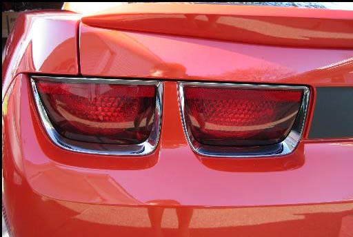 Chevrolet Camaro  2010-2013 Black Chrome Tail Light Trim Bezels