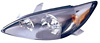 2003 Toyota Camry (SE with Black Housing)  Passenger Side Replacement Headlight