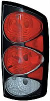 Dodge Ram 2002-2006 Black Housing Euro Tail Lights