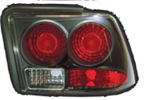 Ford Mustang 1999-2004 Black Housing Euro Tail Lights