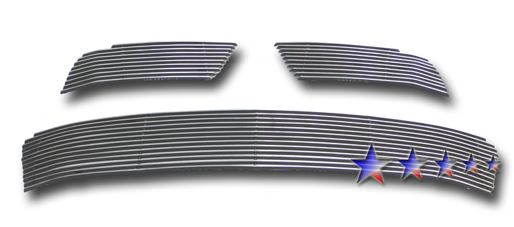 Mitsubishi Outlander  2010-2012 Polished Main Upper Aluminum Billet Grille