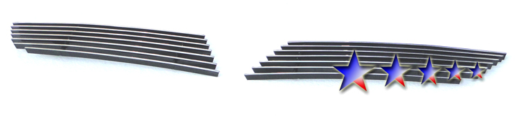 Mitsubishi Lancer  2008-2012 Polished Main Upper Aluminum Billet Grille