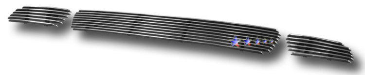 Mitsubishi Lancer  2002-2003 Polished Lower Bumper Aluminum Billet Grille