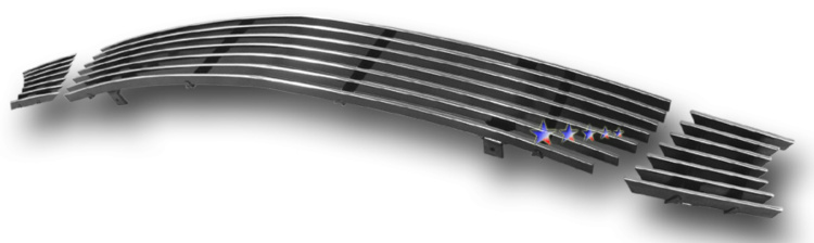 Mitsubishi Lancer  2004-2005 Polished Lower Bumper Aluminum Billet Grille