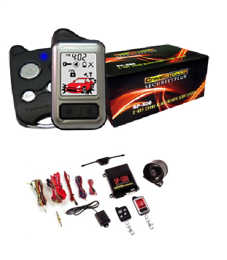 Crimestopper SP500 - 2 Way Remote Starter, Car Alarm, Keyless Entry with Color LCD Pager