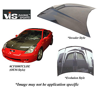 Honda Civic 99-00 VIS Racing Carbon Fiber Invader Hood