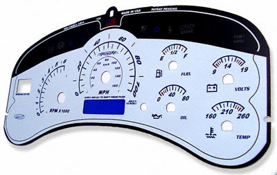 GMC Sierra 1999-2002 White Face Gauges