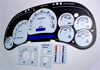 GMC Suburban 1995-1999 White Face Gauges