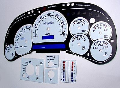 Chevrolet Avalanche 03-06 White Face Gauges