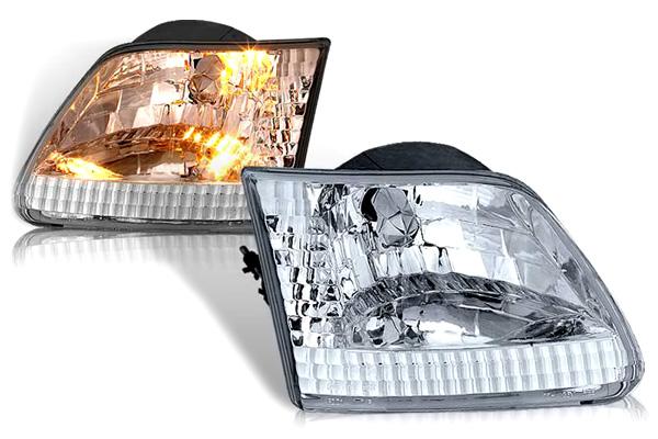 Ford F-150 1997-2003 Chrome/Clear Euro Headlights
