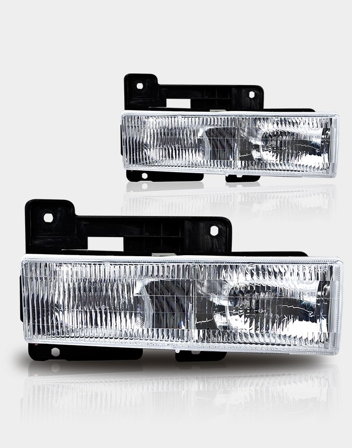 Chevrolet Suburban 1992-1999 Chrome/Clear OEM Headlights