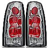 Gmc Full Size Pickup  1988-1998 Chrome/Clear Euro Tail Lights