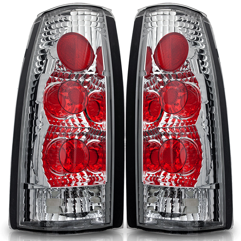 Chevrolet Full Size Pickup  1988-1998 Chrome/Clear Euro Tail Lights