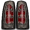 Gmc Yukon  1992-1999 Chrome/Smoke Euro Tail Lights