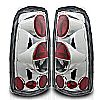 2001 Chevrolet Silverado   Chrome/Clear Euro Tail Lights