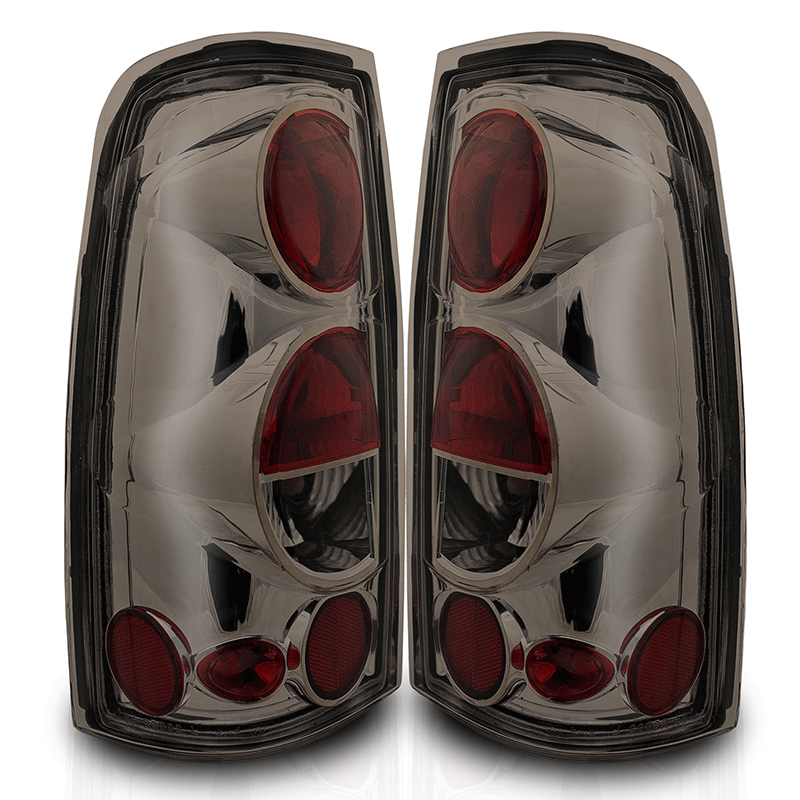 Gmc Sierra  1999-2002 Chrome/Smoke Euro Tail Lights