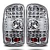2000 Gmc Yukon   Chrome/Clear  LED Tail Lights