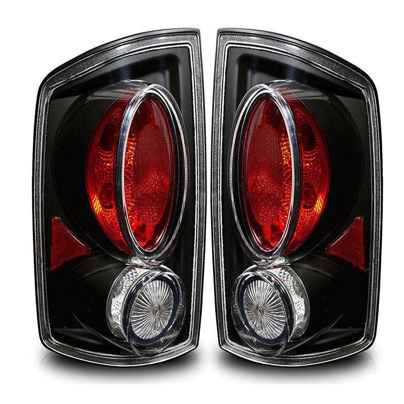 Dodge Ram  2002-2006 Black/Clear Euro Tail Lights