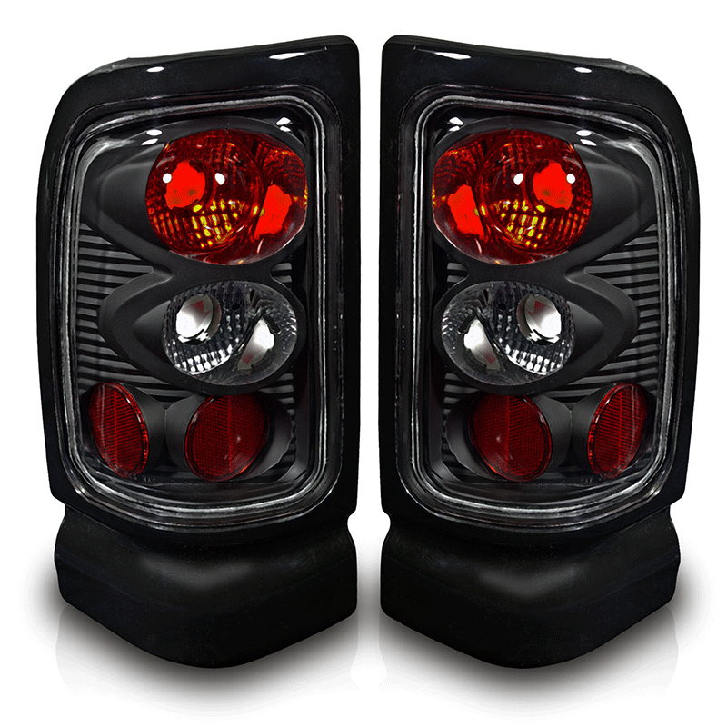 Dodge Ram  1994-2001 Black/Clear Euro Tail Lights
