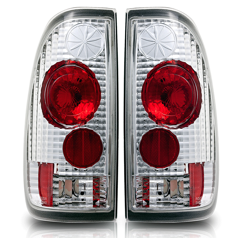Ford F150 Styleside 1997-2003 Chrome/Clear Euro Tail Lights