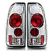 Ford Super Duty Styleside 1997-1999 Chrome/Clear Euro Tail Lights