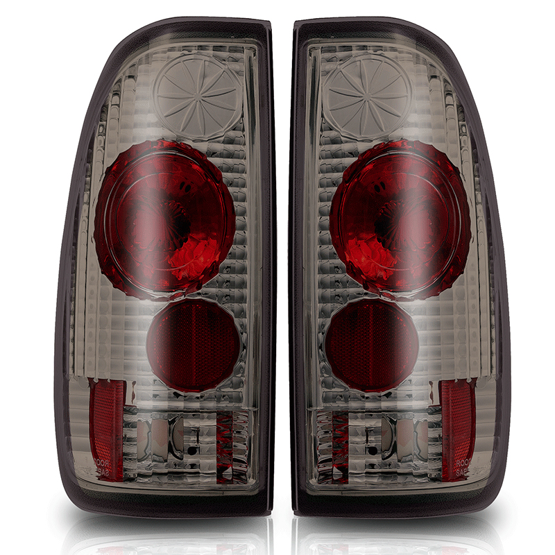 Ford Super Duty  1999-2007 Chrome/Smoke Euro Tail Lights
