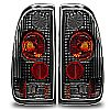 1999 Ford Super Duty   Black/Clear Euro Tail Lights