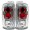 1999 Ford Expedition   Chrome/Clear Euro Tail Lights