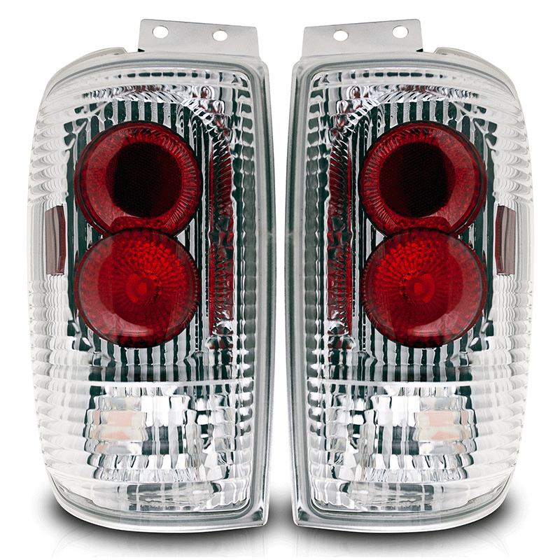 Ford Expedition  1997-2002 Chrome/Clear Euro Tail Lights