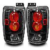 Ford Expedition  1997-2002 Black/Clear Euro Tail Lights
