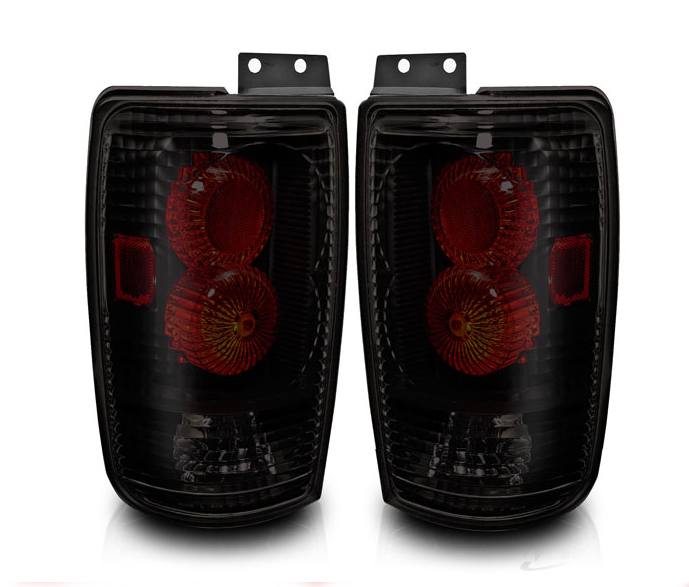 Ford Expedition  1997-2002 Black/Smoke Euro Tail Lights