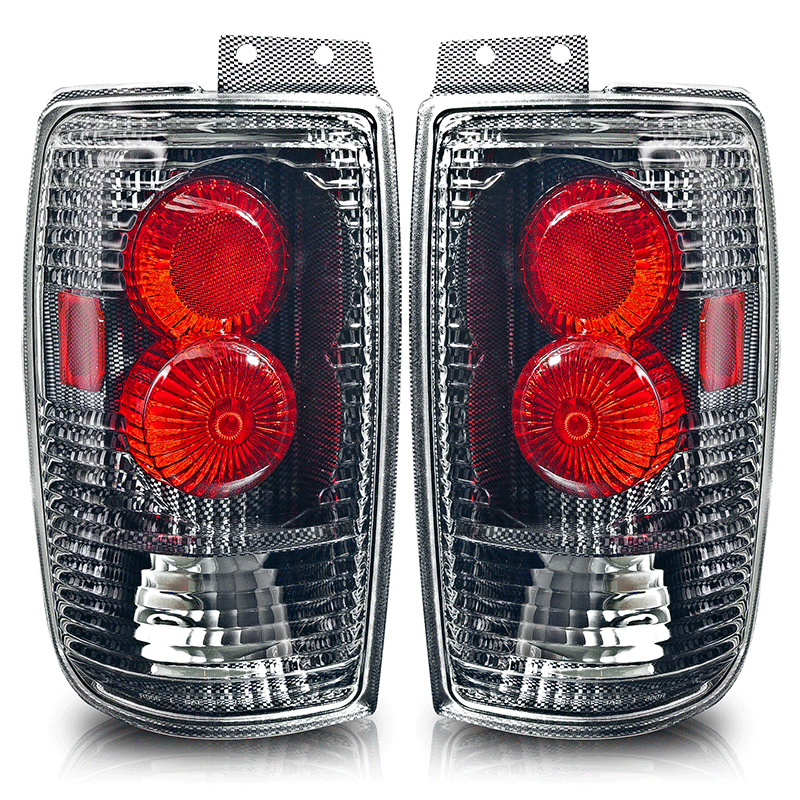 Ford Expedition  1997-2002 Carbon Fiber / Clear Euro Tail Lights