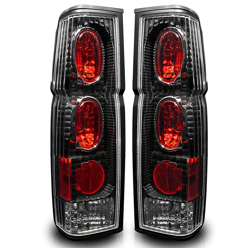 Nissan Nissan Pickup  1995-1997 Black / Clear Euro Tail Lights
