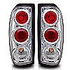 Nissan Frontier  1998-2004 Chrome / Clear Euro Tail Lights