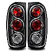 2001 Nissan Frontier   Black / Clear Euro Tail Lights