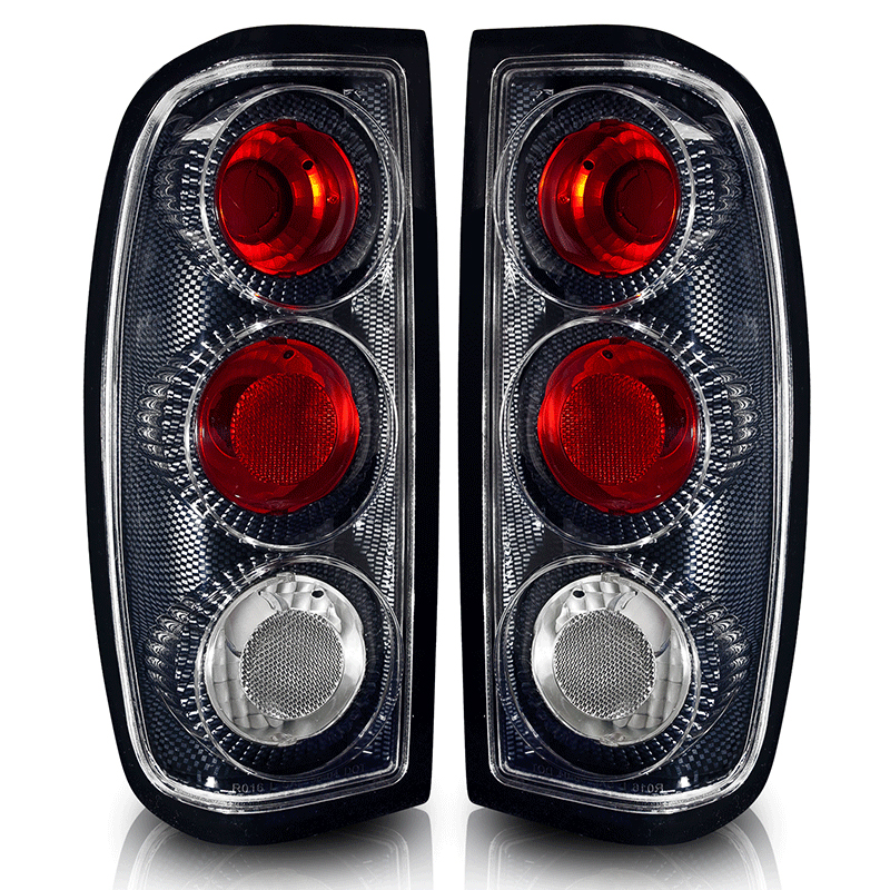 Nissan Frontier  1998-2004 Carbon Fiber / Clear Euro Tail Lights