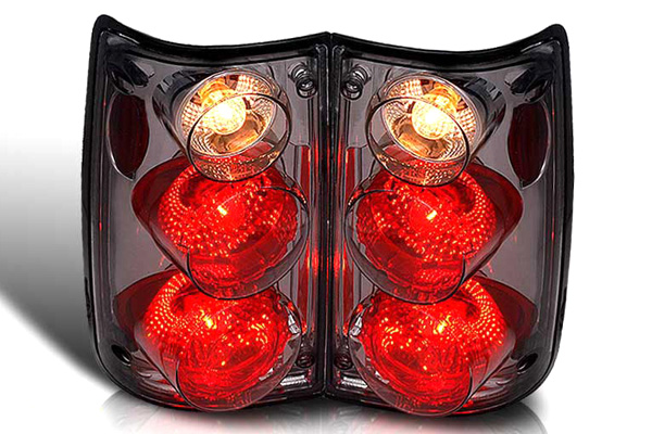Toyota Toyota Pickup  1989-1995 Chrome / Smoke Euro Tail Lights