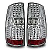 2008 Gmc Yukon   Chrome / Clear LED Tail Lights
