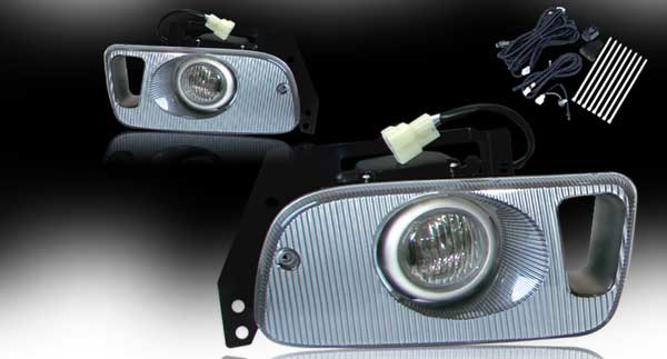 Honda Civic 2/3dr 1992-1995 Clear OEM Fog Lights (wiring Kit Included)