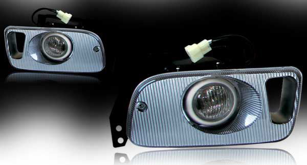 Honda Civic 2/3dr 1992-1995 Smoke OEM Fog Lights (wiring Kit Included)