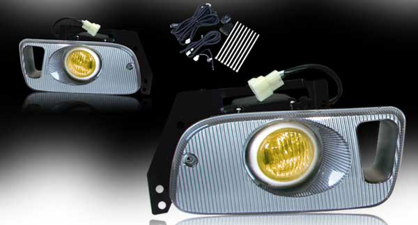 Honda Civic 2/3dr 1992-1995 Yellow OEM Fog Lights (wiring Kit Included)