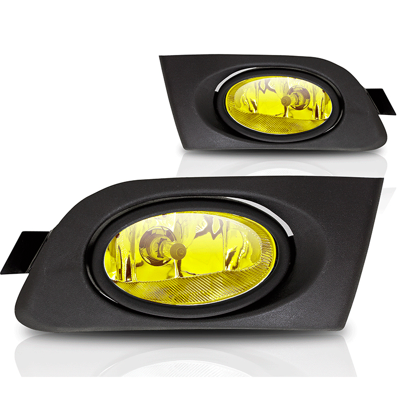 Honda Civic 2/4dr 2001-2003 Yellow OEM Fog Lights (wiring Kit Included)