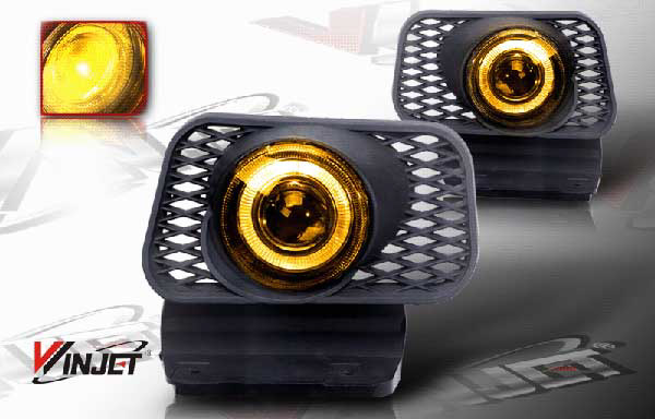 Chevrolet Silverado  2003-2007 Yellow Halo Projector Fog Lights (w/O Body Cladding)