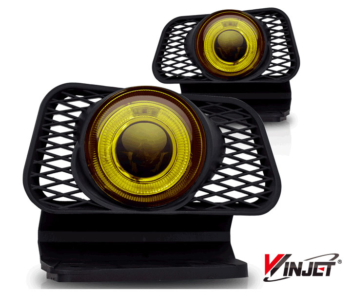 Chevrolet Avalanche  2002-2006 Yellow Halo Projector Fog Lights (w/O Body Cladding)