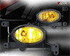 Honda Civic 2dr 2006-2008 Yellow OEM Fog Lights (wiring Kit Included)