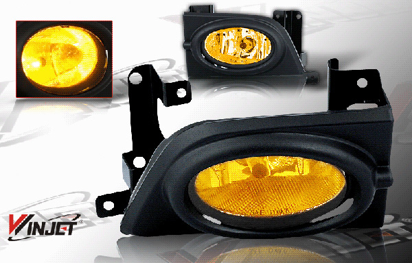 Honda Civic 4dr 2006-2008 Yellow OEM Fog Lights (wiring Kit Included)